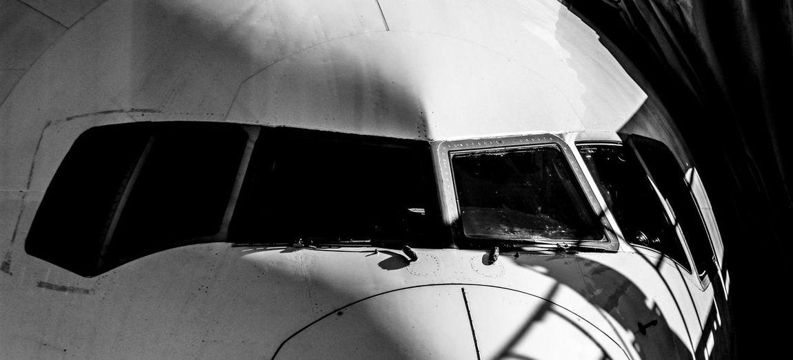 Bird's eye Dark Airplane B&w Close-up Day No People Outdoors Window