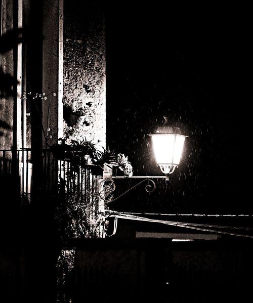 Light Rain Black And White Taking Photos