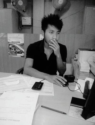 At office That's Me Blackandwhite Check This Out Relaxing
