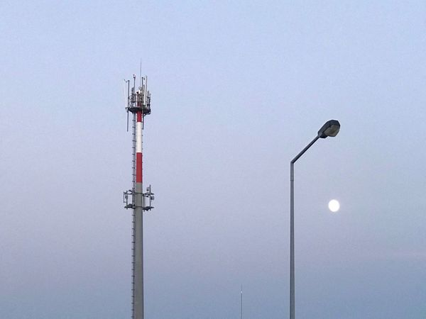 EyeEm Selects Low Angle View No People Day Outdoors Floodlight Built Structure Clear Sky Technology Sky