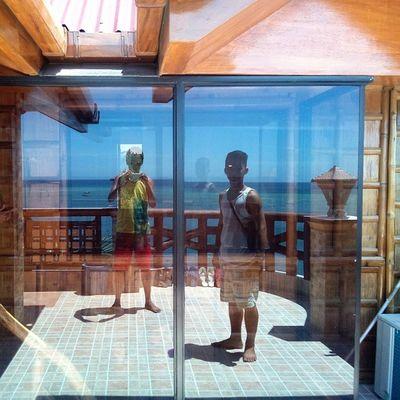 Reflections... Glassdoor Rooftop Thirdfloor BeachHouse beach resort sand sanjuanian Siquijor MysticSiquijor visitPH2015 3mar