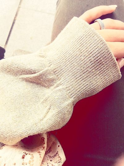 Winter Oversized Sweaters Rings 💍 Hijabstyle  Human Hand One Woman Only