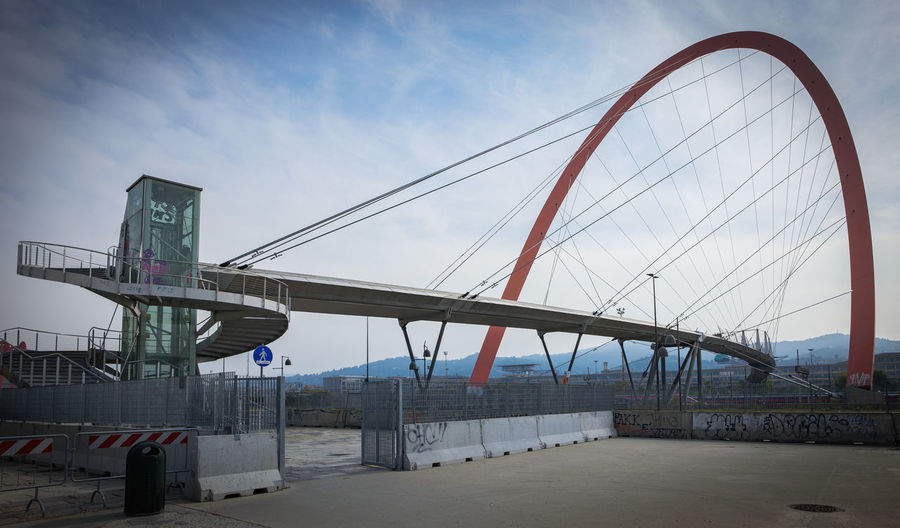 Olympic Games In Winter 2006 Turin (Italy) Architecture Bridge - Man Made Structure Bridge View Building Exterior Sky Suspension Bridge