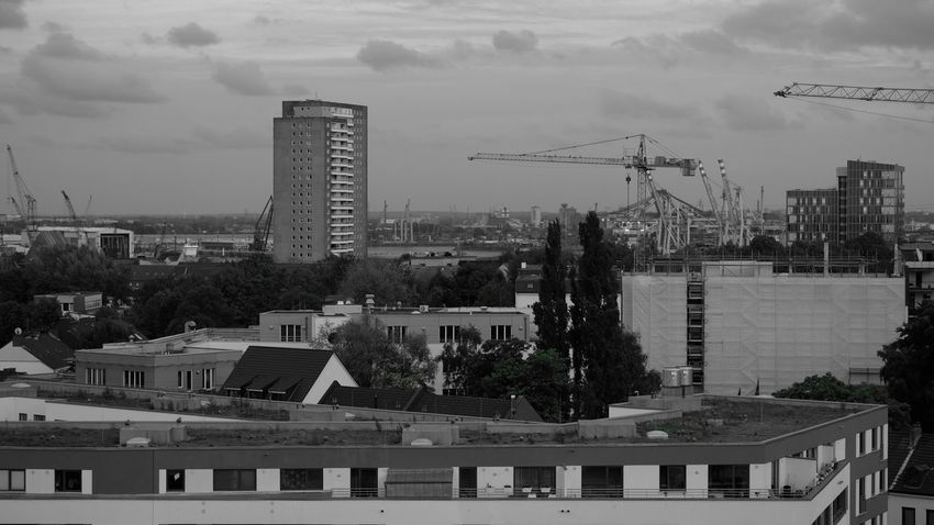Architecture Building City Cityscape Cityscapes Crane Hamburg Port