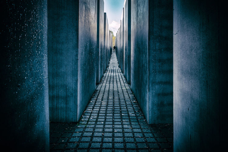 The Jewish memorial, Berlin, Germany Berlin Dark GERMANY🇩🇪DEUTSCHERLAND@ Jewish Memorial War Memorial Architecture Built Structure Germany High Contrast Illuminated Jewish Memorial Night No People Outdoors The Way Forward