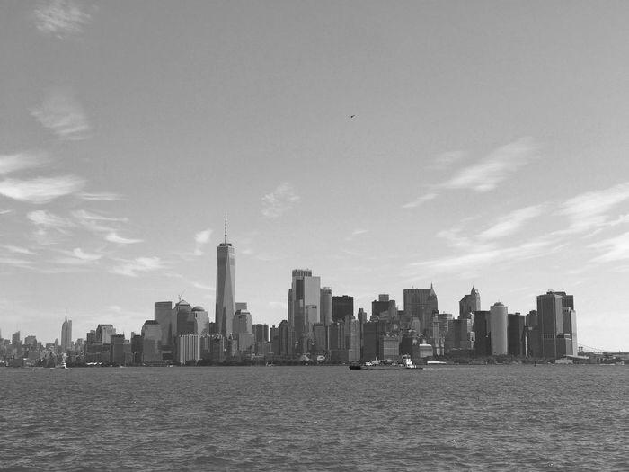 Manhattan. Blackandwhite EyeEm Best Shots EyeEm Photography New York City New York Manhattan Sea Monochrome Architecture Building Exterior Office Building Exterior Built Structure City Sky Skyscraper Modern Nature Cityscape My Best Photo