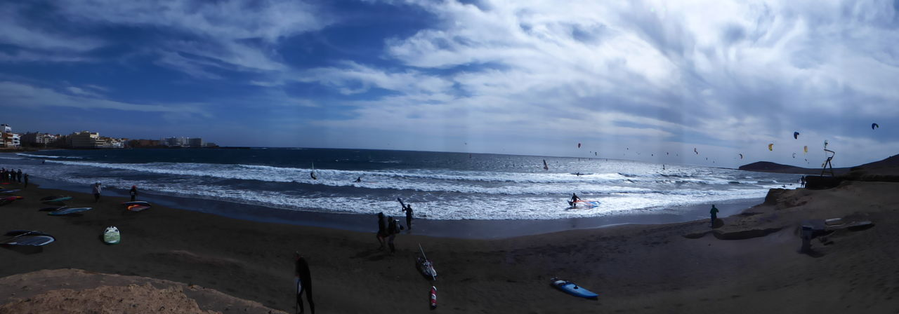 Beach Coastline El Médano Fish-eye Lens Horizon Over Water Kite Kitsurfing Ocean Outdoors Perspective Sand Sea Seascape Shore Summer Surf Surf Photography Tenerife Tranquil Scene Trip Vacation Vacations Voyage Water Wave Surf's Up