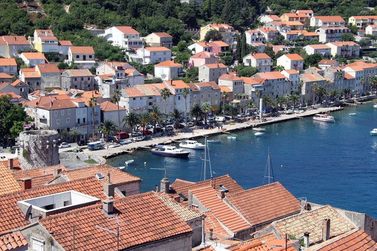 Building Exterior Architecture Built Structure Water Building City Roof Residential District High Angle View Nature Crowded Transportation House Nautical Vessel Day Town Sea Outdoors TOWNSCAPE Cityscape Sailboat Roof Tile Marina