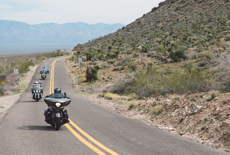 Arid Climate Arid Landscape Arizona Day Land Vehicle Landscape Mode Of Transport Motorcycle Mountain Mountain Range Mountain Road Nature No People Outdoors Road Road Road Trip Roadtrip Route 66 Route66 Sky The Way Forward Transportation Travel Travel Destinations It's About The Journey