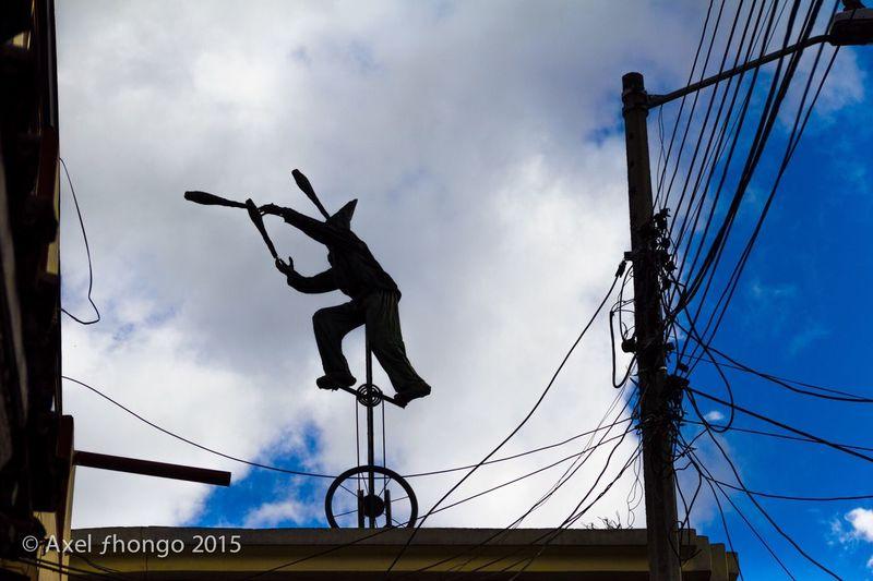 Balancing Act Monocycle  Balancing Circus Clown Skyporn Bowling The Traveler - 2015 EyeEm Awards The Moment - 2015 EyeEm Awards