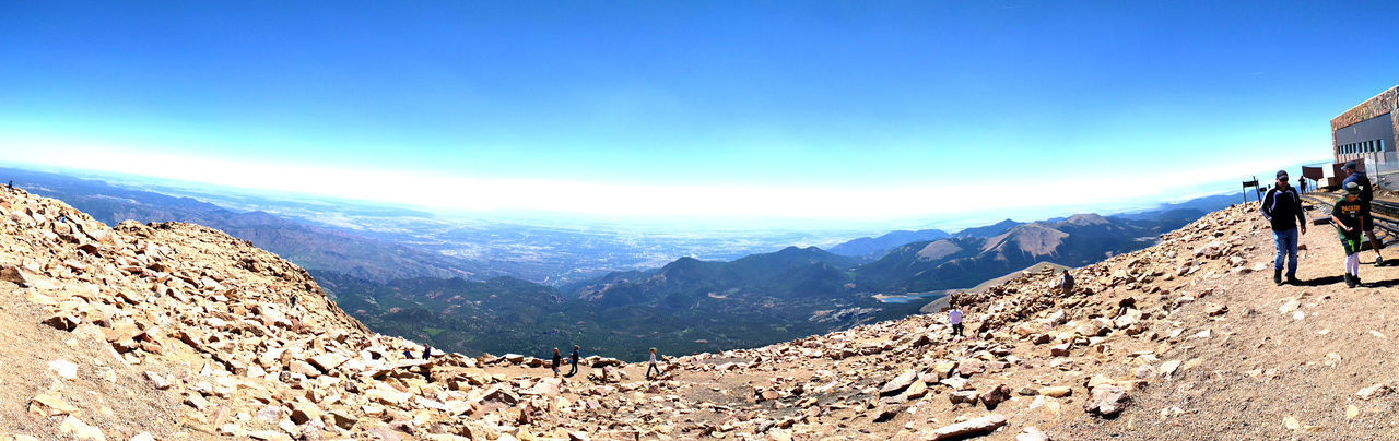 Pikes peak panorama Pikes Peak Summit Pikes Peak In Colorado Activity Beauty In Nature Cloud - Sky Day Environment High Altitude Land Landscape Leisure Activity Mountain Mountain Range Nature Non-urban Scene Outdoors Pikes Peak Rock Scenics - Nature Sky Solid Sunlight Tranquil Scene Tranquility Travel
