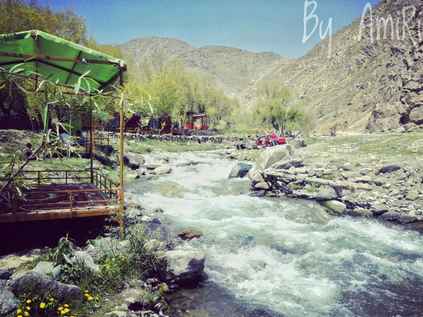 Mountain Water Clear Sky Beauty In Nature Flowing Waterfront Sky Vacations Flowing Water Outdoors Remote Day Non-urban Scene Nature Stream Plant Freshness Weekend Kabul Afghanistan Kabul Afghanistan Afghanistan In Pictures Afghanistan