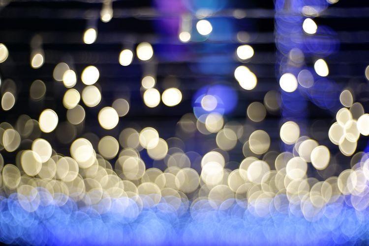 Defocused image of illuminated lights
