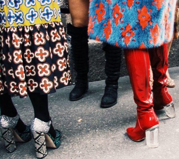 Fashion Week GUCCI Milan Colorful Fendi Outfits Patterns Prada Prints Steetstyle Street