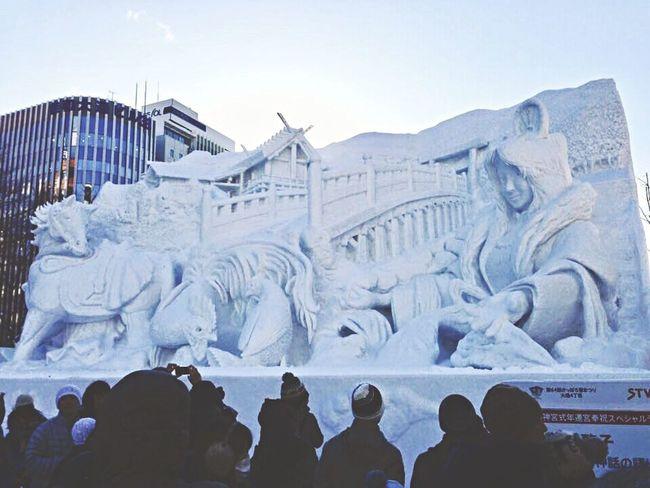 🌬 Sapporo Snow Festival in 2013✨ Odori Park Sapporo Hokkaido Japan IPhone Photography Ise Jingu Snow Art Festival Artistic Winter Wonderful Travel Destinations Showcase: February Cold Temperature BIG EyeEm Japan Cool_capture_ Sunny Day Creative Power Feeling Inspired さっぽろ雪まつり 大通公園 札幌 北海道