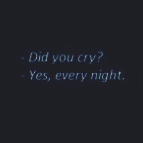 Crying Night Did