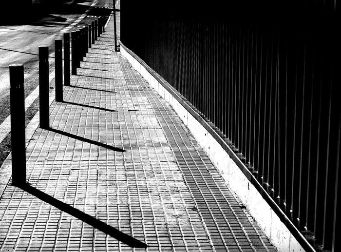 Close-up of walkway in city
