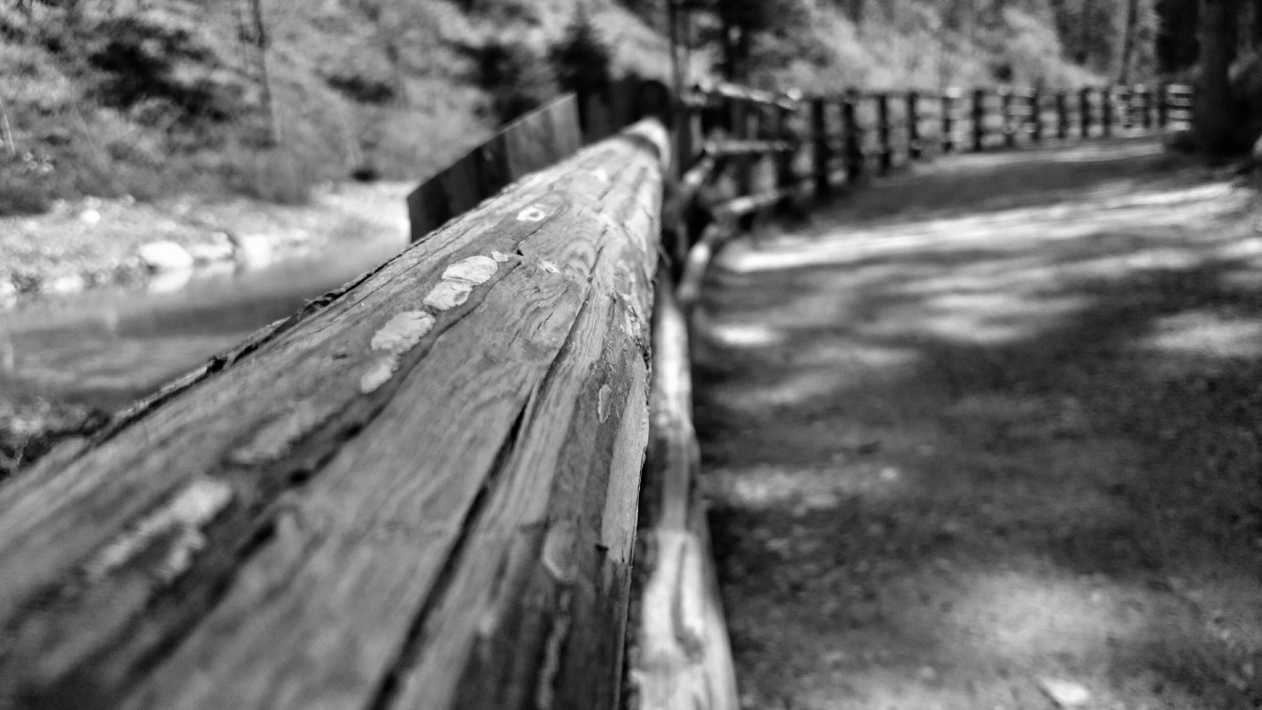 wood - material, wooden, wood, plank, focus on foreground, selective focus, close-up, textured, fence, boardwalk, log, weathered, day, outdoors, nature, no people, wooden post, old, tree, surface level