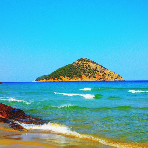 Paradise Beach Paradise Beach Paradise Thassos Sea Beach Nature Blue Clear Sky Beauty In Nature Scenics Water Outdoors Horizon Over Water Tranquility Sand No People Tranquil Scene Wave Mountain