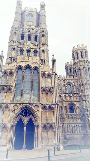 Architecture Building Exterior Built Structure Place Of Worship Spirituality Arch Religion Low Angle View Church Window Tall - High Tall Tower Façade Sky Outdoors Day History Exterior Famous Place Ely Cathedral Place Of Worship Spirituality Architecture