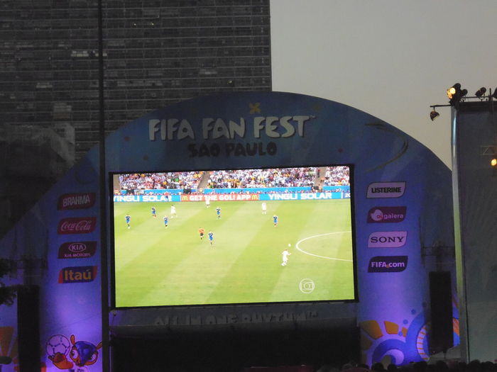 World Soccer Cup 2014 - FIFA Fan Fest - Final Game televised at Vale do Anhangabaú in downtown São Paulo (July 13, 2014) Excitements In The Air FIFA World Cup Brasil FIFAWorldCup2014 FIFAworldcup Fifa Fan Fest Final Soccer Game July 13, 2014 Once In A Lifetime Susan A. Case Sabir Unretouched Photography World Soccer Cup 2014 All Nationalities Came To Watch The Final Game At Vale Do Anhangabaú In Downtown São Paulo Downtown São Paulo Enormous Crowd Extremely Popular Fifa 2014 Fifa World Cup Fifa14 Never Too Old, Never Too Late People From All The World Soccer Fans Soccer Fans From All Parts Of The World Soccer Spirit Unified People Vale Do Anhangabau