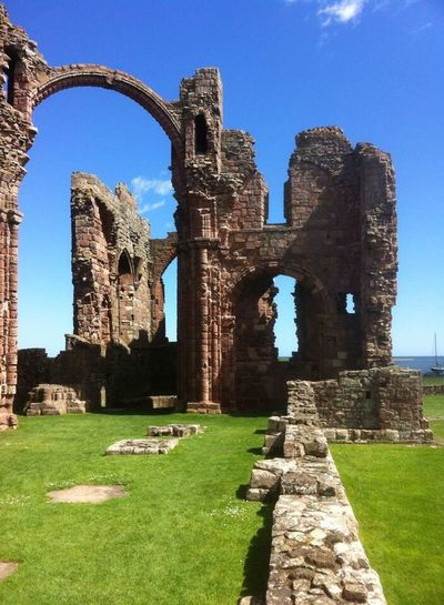 Lindisfarne Priory Historical Monastery Monks Vikings  St Aidan Peace Tranquil