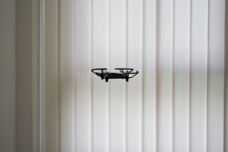 Close-up of drones on wall