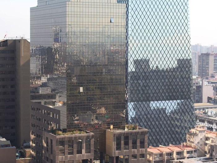 Cityscapes Urban Reflections Santiago De Chile Time To Reflect