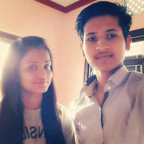 Till we meet for the next time, have a happy everyday pari! 😊👍 Bff🌹 Firstselfieofours 📷 Neighbors👌 Schoolfriendfromnurserytoten 🏤✏✒ 😂😂
