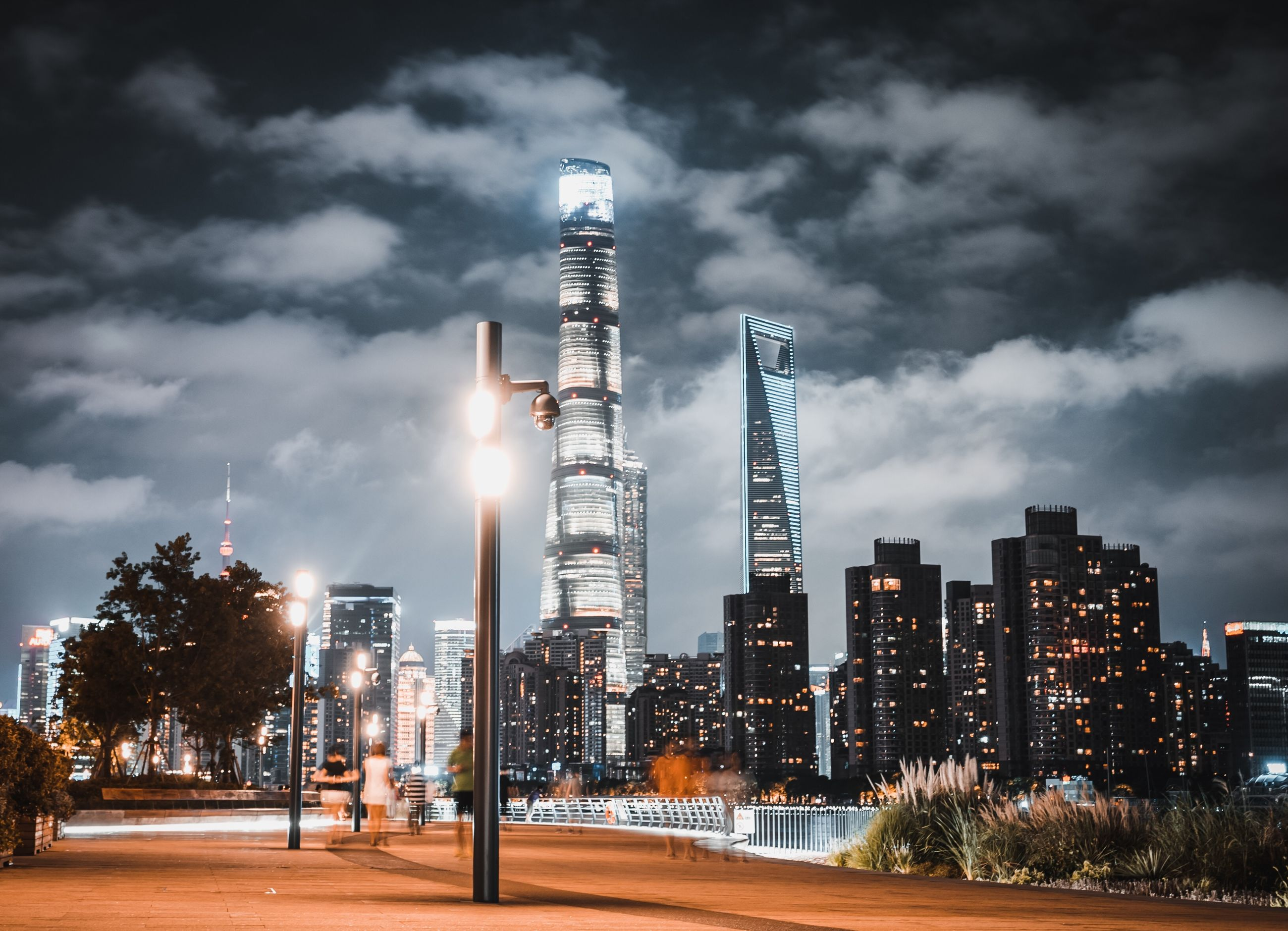 building exterior, sky, built structure, architecture, cloud - sky, city, nature, tall - high, no people, tree, illuminated, office building exterior, building, plant, skyscraper, tower, outdoors, night, transportation, road, modern, cityscape, financial district