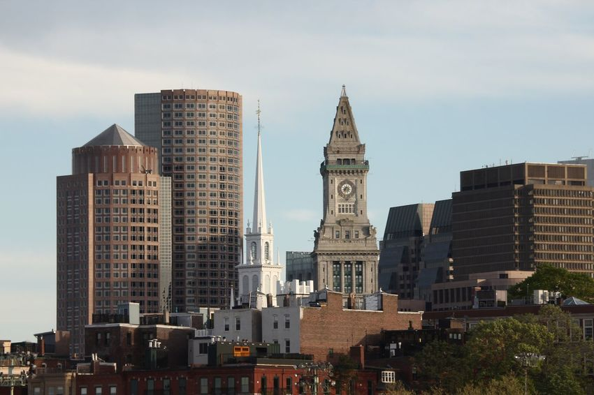 Boston Old North Church Boston Custom House Architecture Built Structure Building Exterior Building City Office Building Exterior Sky