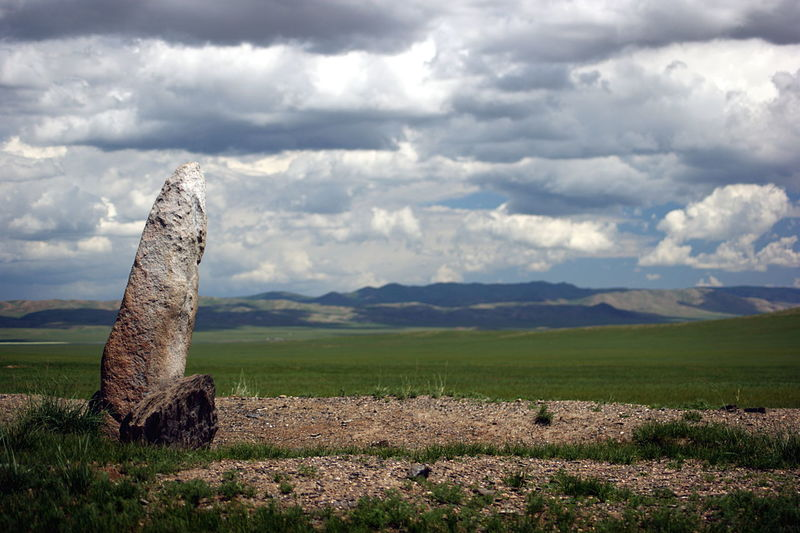 Mongolia Beauty In Nature Cloud - Sky Day Deer Stone Environment Land Landscape Mountain Nature No People Non-urban Scene Outdoors Overcast Remote Scenics - Nature Sky Steppe Tranquil Scene Tranquility Монгол улс