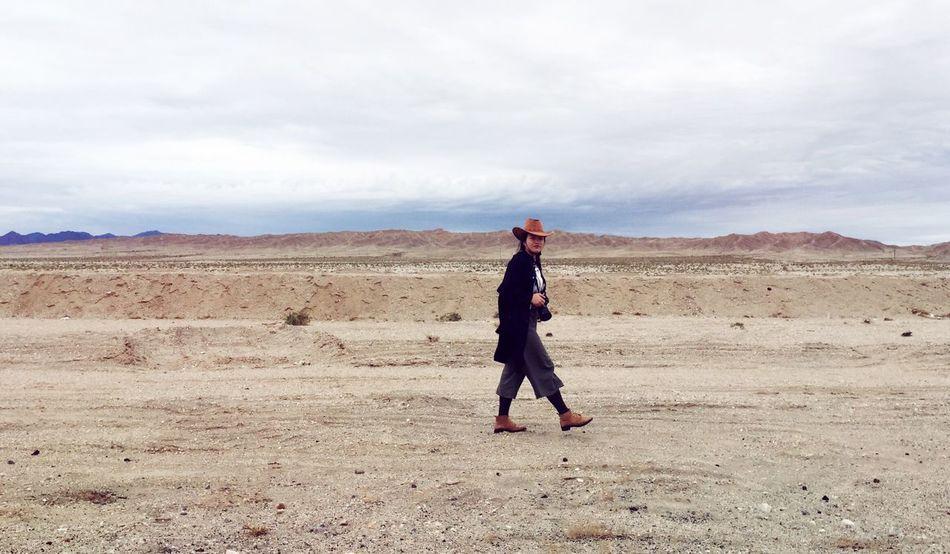 Cross the Gobi desert On The Way Relaxing Nature Enjoying Life Enjoyment Travel The World On August 13,2016 in Jiuquan of Gansu Province ,China. Chinese Girl