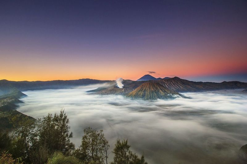 Sunrise Mount. Bromo East Java Indonesia Sunset