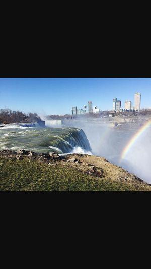 Niagara Falls Water Nature Niagarafalls USA Waterfall Rainbow