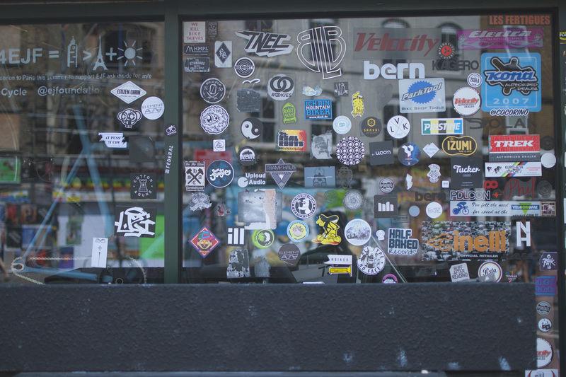 Uk 35mm Film Nikon Nikon D80 Sticker Brick Landscape Bycicle Bycycle Shop Close-up East London Nikonphotography