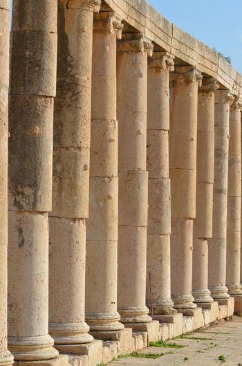Architecture Ausgrabungen Ancient Jordan Temple Säulen Römer Jerash Excavation Jerash - Jordan Antik Sunk Ancient Architecture Antique Ruins Antiques Roman Culture Ruined Building Roman Jordanien Archology Sunk City Ancient Ruins