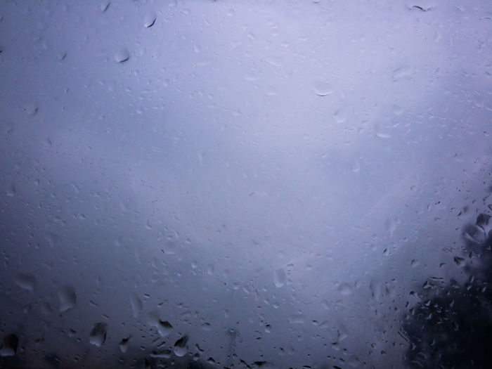 It was raining