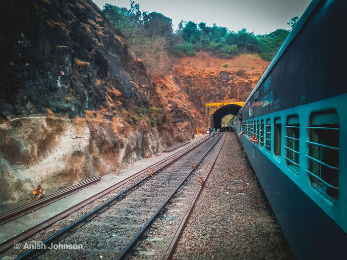 Travelling takes you to disctint places exploring all new paths and reveleaing the secrects of life...🗾🌍🌎🌏 Nature Freelance Life Indian Railways Konkanrailway Landscape EyeEm Selects Tree Railroad Track Rail Transportation Sky Travel Steam Train Railroad Station Platform Passenger Train Train - Vehicle Railroad Station