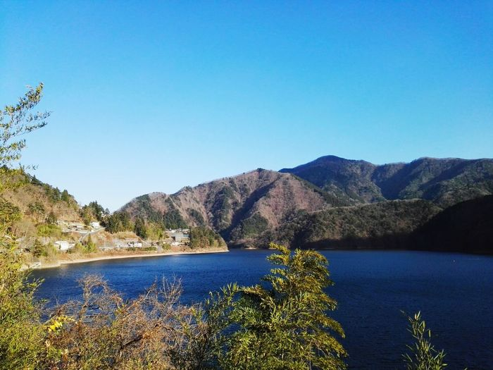 Tokyoin okutama. Blue Mountain Lake Water Scenics Landscape Beauty In Nature Travel Destinations Outdoors Tree No People Nature Sky Day Nature Piano Moments