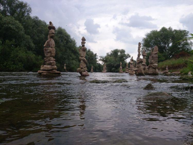 Stonepile Stone Pile Heidelberg Neckar Steinstapel Steine Stapeln Turm Tower Steine Steinaufstein The KIOMI Collection