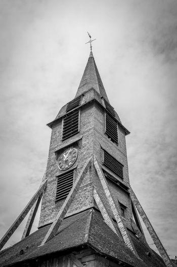 church Honfleur église Sainte Carherine Clocher Clochersdefrance Church History Blackandwhite Noir Et Blanc Minimalism France No People Pyramid Finance Business Sky Building Exterior