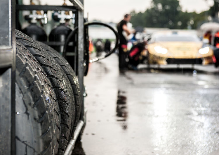Close-up of tires