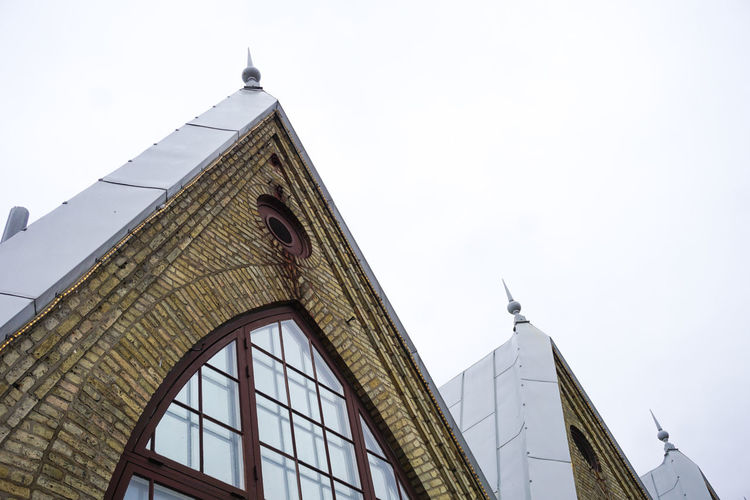 roof detail of Feskekorka, fish market Building Architecture Building Exterior Building Exterior Building Roof Rooftop Window City Clock Clock Face Religion History Place Of Worship Spirituality Triangle Shape Sky Architecture Office Building Spire  Tall - High