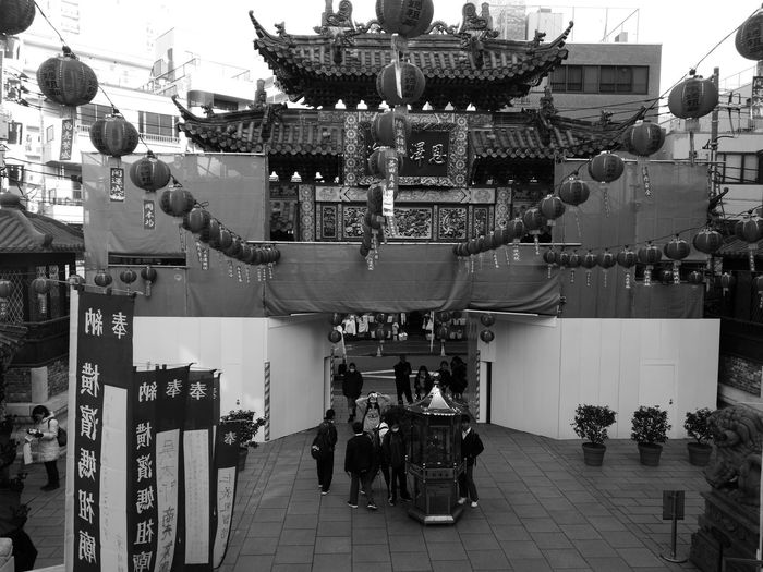 春節を告げる灯火 Langtang China Taoism TaoistTemple Yokohama Chinatown Built Structure Day Architecture People Sky