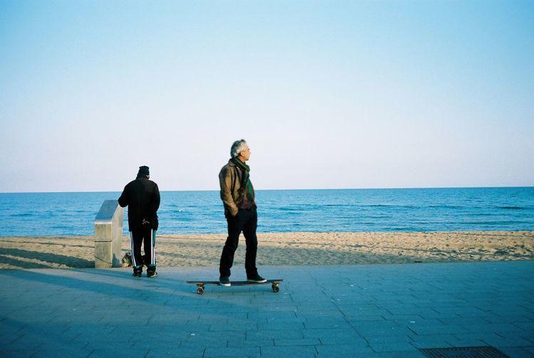 My Unique Style Contax T3 Kodak Portra 35mm Film Film Barcelona Skateboarding Beachphotography Everyday Joy RePicture Ageing