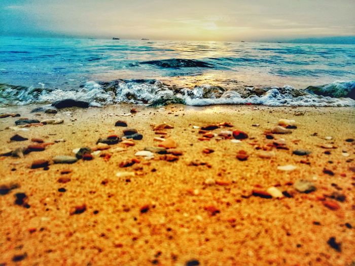 Sea ❤ Rippled Relaxing Relaxing Time EyeEm Nature Lover EyeEm Gallery Ras Sudr Ras Sudr Egypt Egypt Water Waves Water_collection Sea Waves Morning Light Beatiful Nature Nature_collection Nature Photography Golden Hour Golden Beach Tranquility Tranquil Scene Sea Blue Sea Beach Beach Time 28March_2018 Sandy Beach Calm Pebble Beach Pebble Stone Rushing