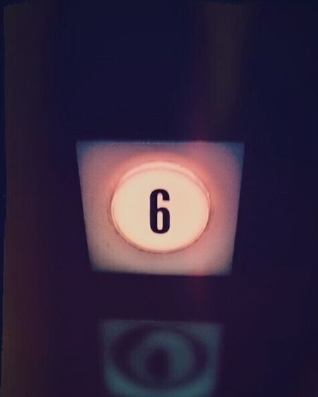 Six Elevator 60's 1960's Architecture Push Button Close-up Low Light Letterform Surreal Communication Indoors  No People Technology Day