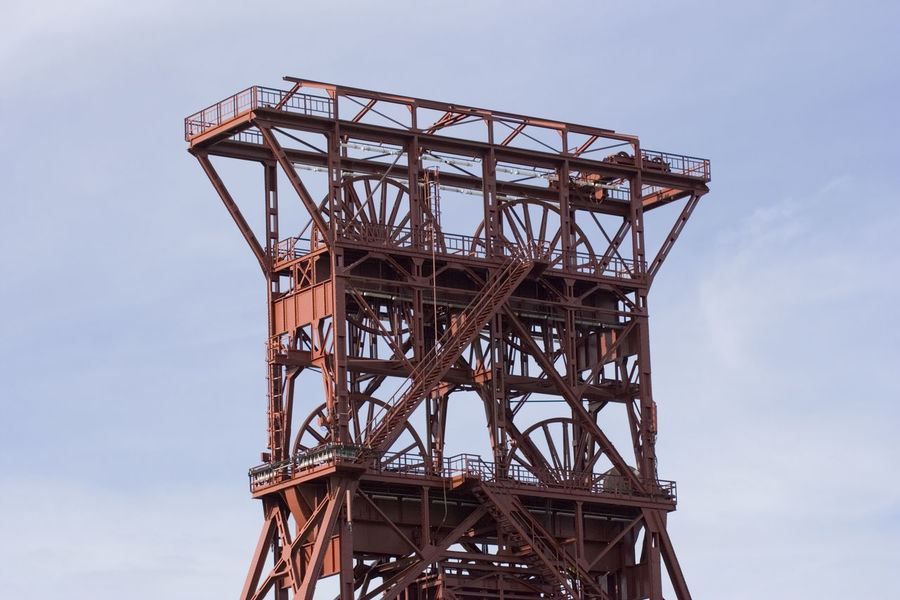 ancient shaft tower - coal mine consol, gelsenkirchen, built 1922, closed 1997 Ancient Architecture Built Structure Clear Sky Coal Mine Coalmine Consol Gelsenkirchen Germany High Section History Industrial Industrial Building  Industrial Culture Industry Landmark Low Angle View Mining Mining Heritage Monument No People NRW Ruhrgebiet Shaft Tower Working Place