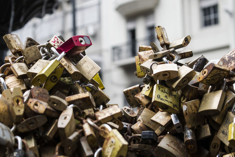 Love Montevideo,Uruguay Abundance Connection Day Hope Hope - Concept Large Group Of Objects Lock Love Love Lock Metal No People Outdoors Padlock Popular Photos Protection Repetition Romance Safe Safety Security Streetphotography Trust Variation